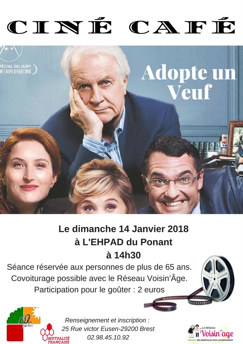 Ciné Café du 14/01/2018 à l'Ehpad du Ponant